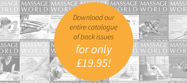 Massage World Magazine back issues